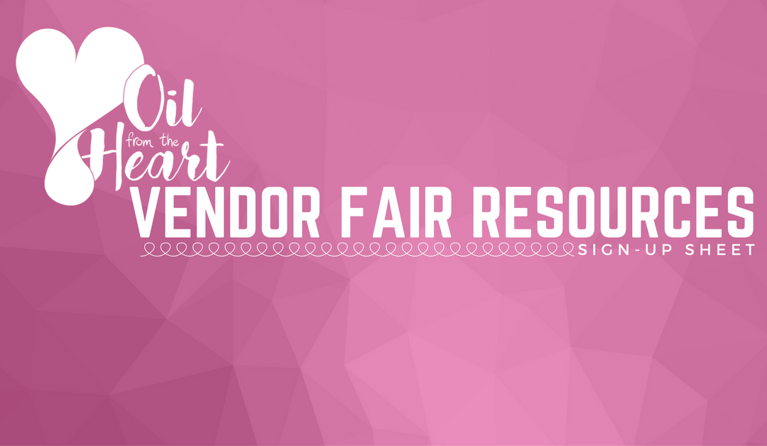 Vendor Fair Sign-Up Sheet
